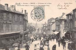 BRIVE - L'Avenue De La Gare - Arrivée Des Trains (grande Foire) - Brive La Gaillarde