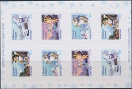 Russia, 2013, Mi. 1988-91, Y&T 7430-32, Sc. 7497a, New Year, Mascots Of The XXII Olympic Winter Games, Sochi, MNH - Unused Stamps
