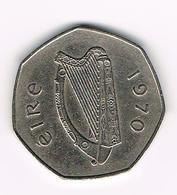 &  IERLAND  50  PENCE  1970 - Irlande