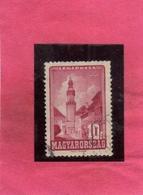 HUNGARY UNGHERIA MAGYAR 1947 AIR MAIL POSTA AEREA Loyalty Tower, Sopron TORRE 10f USATO USED OBLITER - Posta Aerea