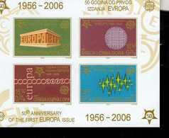 CEPT 50 Jahre Europamarken Jugoslavien Block 59 B  MNH ** Postfrisch - Blocks & Kleinbögen