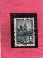 HUNGARY UNGHERIA MAGYAR 1947 AIR MAIL POSTA AEREA Vajdahunyad CASTLE CASTELLO, Budapest 1fo USATO USED OBLITER - Posta Aerea