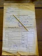 VERKLARING  VAN  ONVERMOGEN     1944  Pamel - Décrets & Lois