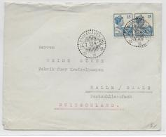 INDES NEERLANDAISES - 1933 - ENVELOPPE De EMMAHAVEN => HALLE (ALLEMAGNE) - Niederländisch-Indien