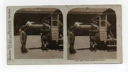 Ancienne CARTE Vue Stéréoscopique Vues De France Lourdes Arrivée Du Train Blanc - Photos Stéréoscopiques