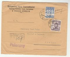 1939 Registered  BUSKU ZDROJU MUNICIPAL SAVINGS BANK COVER To KIELCE Poland Republic Anniv Stamps Banking Finance - 1919-1939 Republic