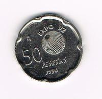 &   SPANJE 50 PESETAS 1990  M EXPO 92   JUAN CARLOS - [ 5] 1949-… : Royaume
