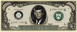 STATI UNITI-1 MILLION DOLLARS-JOHN F. KENNEDY-1963- EMISSIONI DI  FANTASIA-UNC - Stati Uniti