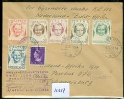L.P.   KLM BRIEFOMSLAG Gelopen In 1946 Van NIEUW BEETS Naar JOHANNESBURG  ZUID AFRIKA V.v. (11.257) - Period 1891-1948 (Wilhelmina)