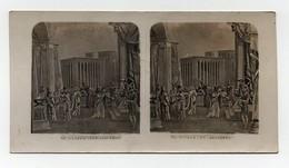 Ancienne CARTE Vue Stéréoscopique Esther Et Asuerus Bible Religion Catholique - Stereoscopic