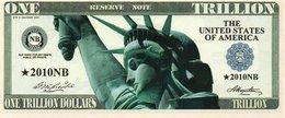 STATI UNITI-1 Trillion -DOLLARS-2010- EMISSIONI DI  FANTASIA-UNC- Fantasy Issue - Altri