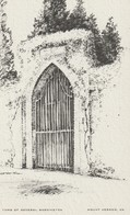 The Tomb Of General Washington, Mount Vernon, Virginia Drawing By Elizabeth O'Neill Verner - Paintings