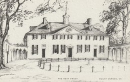 The West Front, Mount Vernon, Virginia Drawing By Elizabeth O'Neill Verner - Paintings