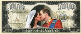 STATI UNITI-1 MILLION -DOLLARS-2011-ROYAL WEDDING- EMISSIONI DI  FANTASIA-UNC- Fantasy Issue - Etats-Unis