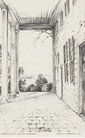 The Portico Of Mount Vernon, Mount Vernon, Virginia Drawing By Elizabeth O'Neill Verner - Paintings