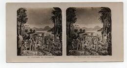 Ancienne CARTE Vue Stéréoscopique Passage Du Jourdain Bible Religion Catholique - Photos Stéréoscopiques