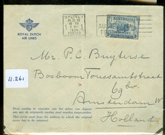 L.P.  KLM BRIEFOMSLAG Gelopen In 1934 Van SYDNEY AUSTRALIE Naar AMSTERDAM  (11.261) - 1891-1948 (Wilhelmine)