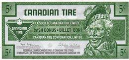 CANADA 5 CENT-CANADIAN TIRE-CASH BONUS- EMISSIONI DI  FANTASIA-aUNC- Fantasy Issue - Canada
