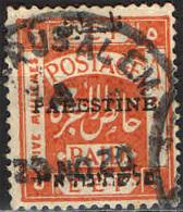 PALESTINA - 1920 - FRANCOBOLLO OCCUPAZIONE MILITARE BRITANNICA CON SOVRASTAMPA - OVERPRINTED - USATO - Palestine
