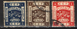 PALESTINA - 1918 - FRANCOBOLLO OCCUPAZIONE MILITARE BRITANNICA - USATI - Palestina
