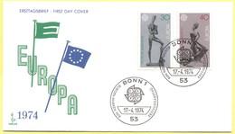 GERMANIA - GERMANY - Deutschland - ALLEMAGNE - 1974 - Europa CEPT - FDC - Bonn - Europa-CEPT