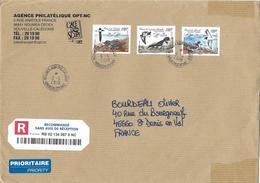 PÉTREL DE TAHITI - OCÉANITE A GORGE BLANCHE - PÉTREL DE GOULD -sur Recommandé Au 9-5-18 - Covers & Documents