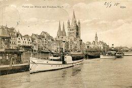 ALLEMAGNE COLOGNE KOLN KOELN - Partie Am Rhein Mit Franken Werft La Vedette Touristique Agger - Köln