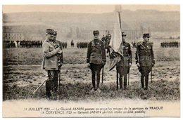 Tchécoslovaquie - Tchéquie / 14 Juillet 1920 -- Le Général JANIN Passant En Revue Les Troupes De La Garnison De PRAGUE. - Czech Republic