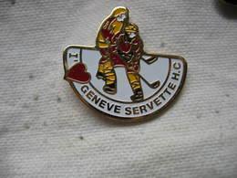 Pin's Du Club De Hockey Sur Glace De Geneve Servette - Patinage Artistique