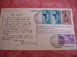 Guinee Espagnole Espana  Timbre Sur Carte Publicite Papeteries Arches - Francobolli