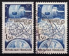 FR 222 - FRANCE N° 2292 + 2292b Oblitérés Variété Couleur Bleu Foncé Omise - Variedades Y Curiosidades