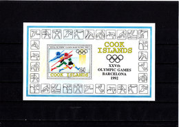 Olympics 1992 - Athletics - COOK ISLANDS - S/S MNH - Ete 1992: Barcelone