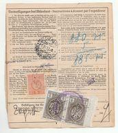 1937 YUGOSLAVIA REVENUE Stamps MARIBOR POST RECEIPT Card AUSTRIA Bulletin D'Expedition LABEL Sendung Mit Begleitschein - 1931-1941 Kingdom Of Yugoslavia