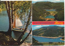 Germany Underpaid Postcard Sent To Denmark 4-6-1976 (Obertalsperre Harz) - Harzgerode