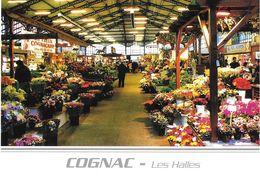 COMMERCE HALLES DE COGNAC CHARENTES-MARITIMES L'ALLÉE CENTRALE LES FLEURISTES - Halles
