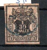 Hanovre  / N11 / 1/30 T  Rose / Oblitéré / Côte 50 € - Hanover