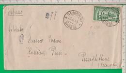 ESPRESSO. L 1.25 Isolato. R.S.I. 1944. Comerio. Varese. Per Cremona. - 4. 1944-45 Repubblica Sociale
