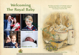 Marshall Islands 2018 ROYAL BABY BIRTH OF PRINCE LOUIS SHEETLET - Marshall Islands