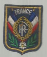 écusson Tissu , Militaria , FRANCE , FR , 2 Scans - Ecussons Tissu