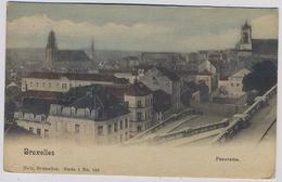 Bruxelles  Brussels Panorama Prise De La Place Poelaert   1901y.     E608 - Brussels (City)