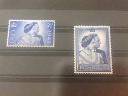 Grossbritannien Michel Nr. 233-234 1948 MH* Top! - 1902-1951 (Rois)
