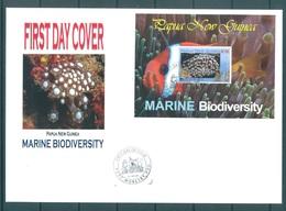 PAPUA NEW GUINEA - FDC  -  6.8.2008 - MARINE DIVERSITY  - Yv BLOC 45 -  Lot 17666 - Papouasie-Nouvelle-Guinée