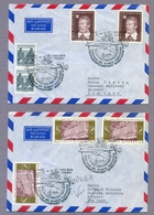 Austria Österreich 1971 2 Covers Wien - New York SSt Eröffnung Des Atlantik Flugverkehrs 40 Jahre ÖFSV First Flight - Aerei