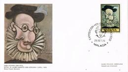29469. Carta Exposicion MALAGA 1978. Pintor PABLO PICASSO. Retrat Jaume Sabartes - 1931-Hoy: 2ª República - ... Juan Carlos I