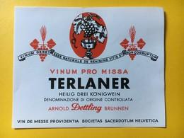 8664 - Vin De Messe Vinum Pro Missa Terlaner Vin Saint Des Trois Rois - Etiquettes