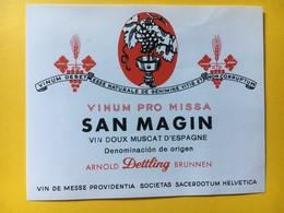 8665 - Vin De Messe Vinum Pro Missa San Magin Vin Doux Muscat D'Espagne - Etiquettes