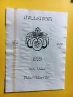 8666 - Millenium Bouteille De La 16546e Seconde De L'an 2000 Pinot Noir Syrah 1995 Robert Gillard Suisse - Etiquettes