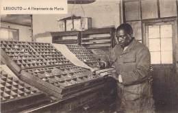 AFRIQUE Africa - LESSOUTO Lesotho : A L'Imprimerie De MORIJA - CPA - Metiers Artisanat - Afrique Noire / Black Africa - Lesotho