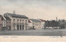 Tirlemont , Tienen , Grand Place ,( Kleurenkaar , Colorisée )L.Lagaert , N° 4 - Tienen