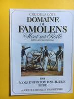 8668 - Ecole D'officiers D'artllerie Bière 1988 -1991 Domaine De Famolens Mont Sur Rolle Suisse 2 étiquettes - Militaire